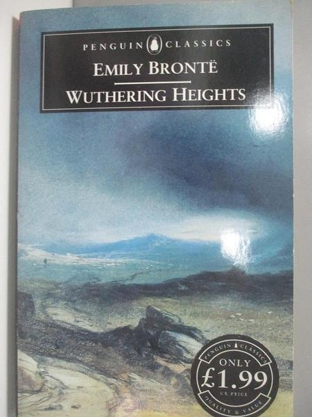 【書寶二手書T1/原文小說_AR4】Penguin Classics Wuthering Heights_Emily