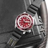 CITIZEN 星辰表 / BN0159-15X / PROMASTER 光動能 紅水鬼 潛水錶 防水200米 日期 橡膠手錶 紅黑色 44mm