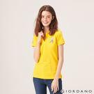 【GIORDANO】女裝勝利獅王漸層刺繡彈力萊卡POLO衫-11 鮮黃