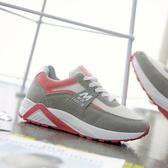 女慢跑鞋 平底鞋 大碼女鞋大額秋冬新款網布跑步運動休閒鞋休閒運動鞋《小師妹》sm2932
