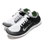Nike 慢跑鞋 Free 4.0 Flyknit 黑 白 男鞋 赤足輕量 編織鞋面 運動鞋 【ACS】 631053-100