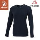 【Wildland 荒野 女 P/G體表舒適調節機能衣《深藍》】P2661/中層衣/衛生衣/排汗衣/保暖