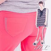 .HL超大尺碼.【15050020】台灣製MIT☆柔軟輕肌彈性纖腿長褲 2色