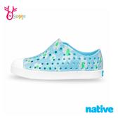native水鞋 女童鞋 大童 奶油頭 洞洞鞋 休閒鞋 懶人鞋 JEFFERSON 小雛菊藍 L9481#藍色◆OSOME奧森鞋業