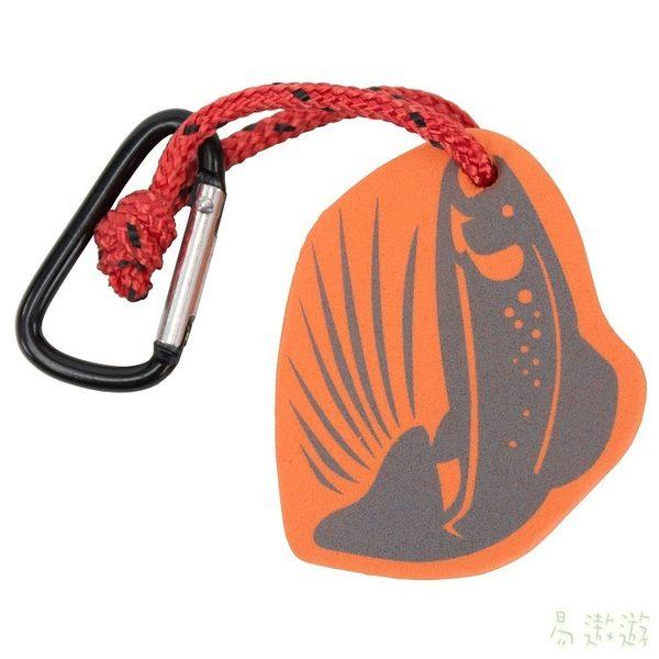 UST 美國 FL浮水掛飾 鮭魚 20-12113 鈎環 鑰匙圈 勾環 登山 露營 野外 緊急求生工具 [易遨遊]