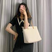 托特包大包包女2019新款潮韓版百搭側背包大容量學生托特包簡約手提女包 時尚新品