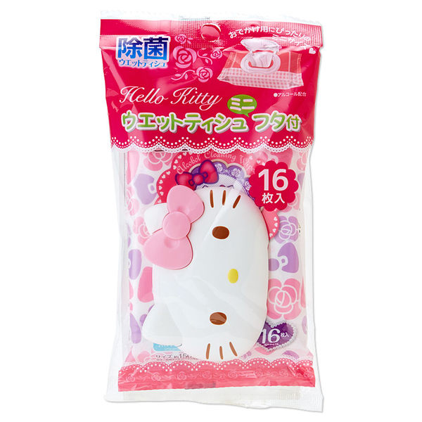 Hello Kitty凱蒂貓_日本製濕紙巾_附造型溼紙巾蓋_16枚入