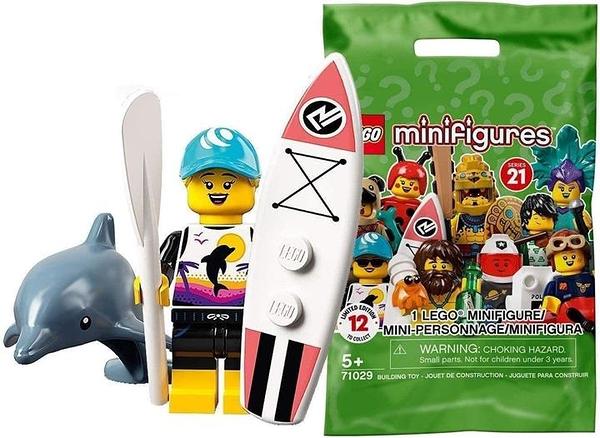 LEGO 樂高 迷你手辦系列 21 巡邏隊 Paddle Surfer [71029-1]