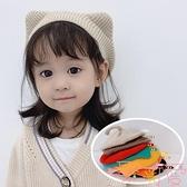 女童貝雷帽韓版卡通貓耳朵尾巴針織毛線帽子【聚可愛】
