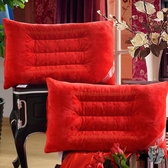磁療枕頭 大紅婚慶枕頭 磁療枕芯單人枕頭枕粉色一對裝48*74CMT