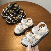 女童涼鞋夏季新款韓版小公主軟底防滑女孩寶寶沙灘鞋兒童鞋子
