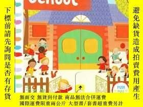 二手書博民逛書店Busy系列罕見英文原版啓蒙 Busy School 紙板Y21