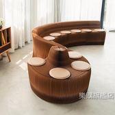 設計loft異形沙發 待家具會客轉角長條沙發靠背風琴椅子wy