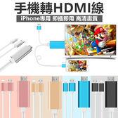 iPhone iPad HDMI 即插即用 3合1 蘋果 同屏器同步顯示 電視  轉接線 USB 充電線【RI369】