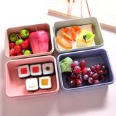 小麥秸稈日式微波爐飯盒 學生便當盒餐盒成人密封保溫飯盒長方形#