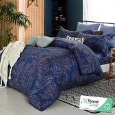 雙人 152x188cm 頂級100%天絲 40s400針紗 床包四件組(兩用被套)-望舒 【金大器】