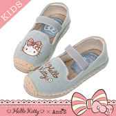 HELLO KITTY X Ann'S親子系列花園小仙子刺繡草編童鞋-藍