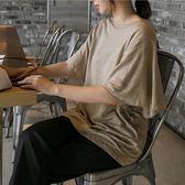 正韓 亞麻圓領蝴蝶袖上衣 (3323224) 預購