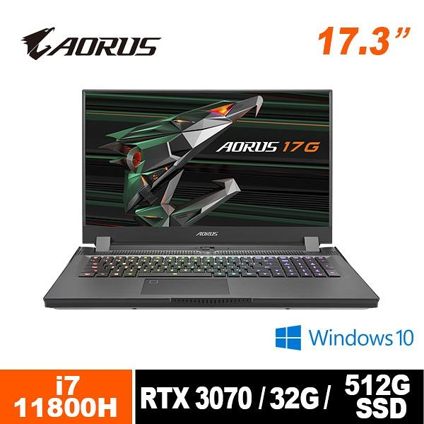 技嘉 GIGABYTE AORUS 17G XD-73TW345GH 17.3吋筆電
