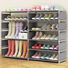 (中秋特惠)多層收納鞋架簡易組裝多功能鞋櫃現代簡約經濟型組合鞋架xw