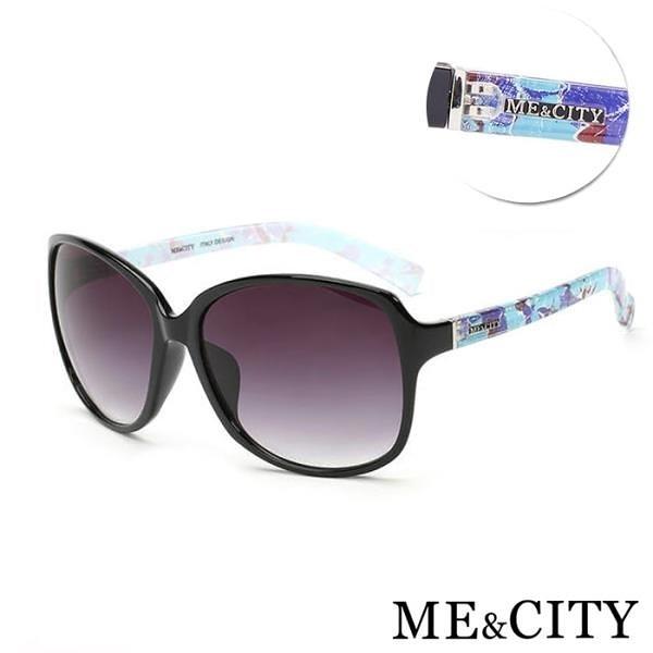 【南紡購物中心】【SUNS】ME&CITY 歐美多彩時尚太陽眼鏡 精緻絢麗大框 抗UV400 (ME 1220 L01)