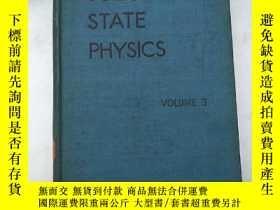 二手書博民逛書店solid罕見state physics volume 3(H4