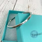 BRAND楓月 TIFFANY&CO. 蒂芬妮 925純銀 英文 字母 刻字 浮雕 手環 手鐲 銀飾 飾品 配件