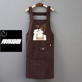 背帶女純棉布廚房做飯防油污韓版時尚工作服圍裙品牌【邦邦男裝】