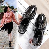 英倫風女鞋CHIC小皮鞋女學生韓版百搭單鞋女