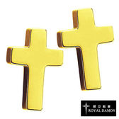 Royal Damon羅亞戴蒙『十字信仰』耳環 (玫瑰金)