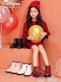 兒童短靴 女童靴子春秋單靴冬季韓版公主真皮加絨兒童短靴女孩棉靴 童趣屋