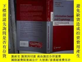 二手書博民逛書店Information罕見security and crypto