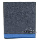 茱麗葉精品【全新現貨】 PRADA 2MO004 立體LOGO撞色條紋六卡簡式短夾.深藍