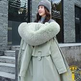 棉服加絨加厚女中長款大衣冬季保暖棉衣外套棉襖【雲木雜貨】
