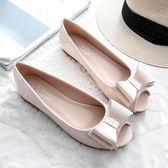 【新年鉅惠】2019新款夏季魚嘴鞋女平底單鞋女士涼鞋