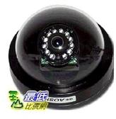 _a@ [有現貨 馬上寄] 半球吸頂式 彩色夜視12顆紅外線雙層板CCD攝影機 (18027N_R107dd)