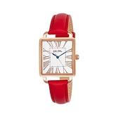 【Folli Follie】Retro Square雅典女神羅馬時尚腕錶-正紅款/WF16R012SPS_DR/台灣總代理公司貨享兩年保固