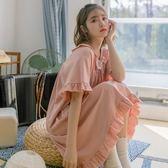 純棉睡裙女夏季薄款可愛公主風短袖睡衣夏天寬鬆學生宿舍家居服