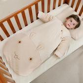 嬰兒睡袋 嬰兒睡袋秋冬季加厚款寶寶嬰幼兒童彩棉防踢被子新生兒【限時八八折】