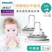 Philips AVENT飛利浦新安怡 親乳感防脹氣奶嘴雙入裝-可調速(3M+)