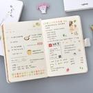 少女心個性創意手賬本套裝方格女學生款手帳網紅可愛日記筆記本子 黛尼時尚精品