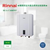 【林內】RUA-C1600WF數位恆溫式FE式熱水器_桶裝瓦斯