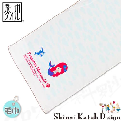 【クロワッサン科羅沙】日本毛巾~加藤真治童話故事系列~小美人魚毛巾 34*85CM