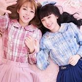 上衣 Ruby x AKB48TeamTP設計‧格紋長袖上衣-Ruby s 露比午茶