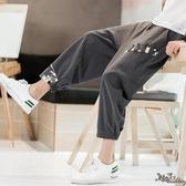 亞麻九分褲哈倫褲 男夏季寬鬆束腳闊腿休閒哈倫褲男士大碼中國風褲子 JX1555『Bad boy時尚』