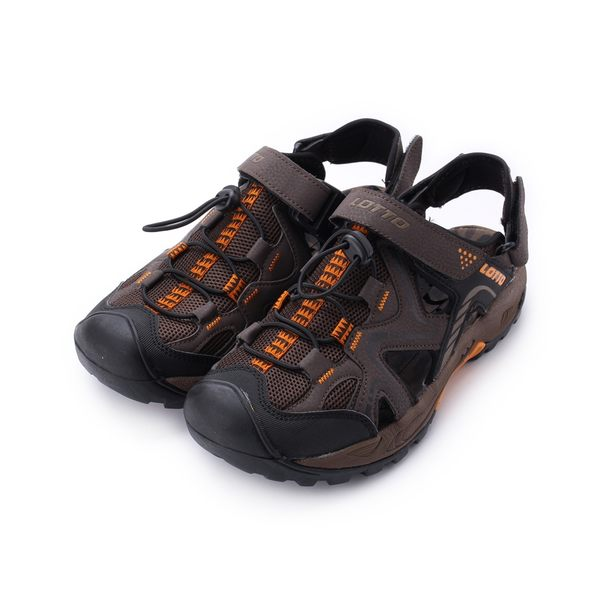 LOTTO 護趾排水兩穿運動涼鞋 咖啡 LT8AMS6103 男鞋 鞋全家福