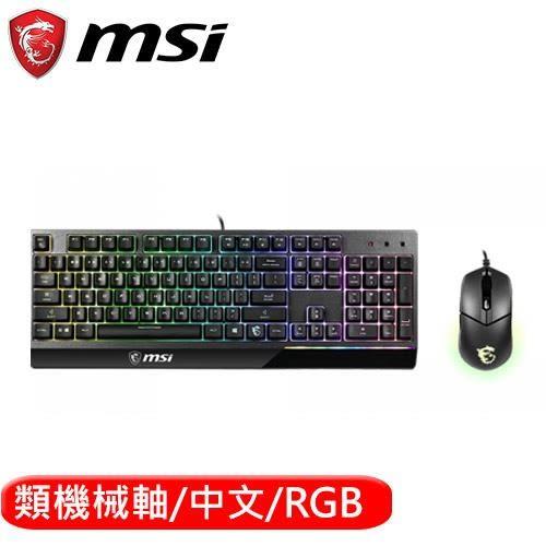 MSI 微星 Vigor GK30 COMBO電競鍵盤滑鼠組 (GK30+GM11)