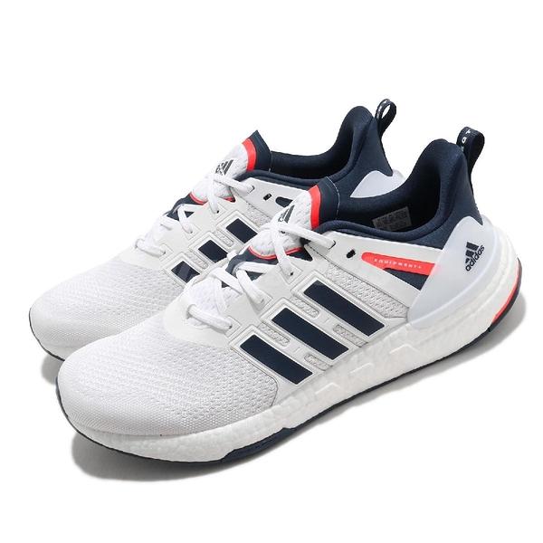 adidas 慢跑鞋 Equipment Plus 白 藍 男鞋 Boost 緩震中底 運動鞋 【ACS】 H02758