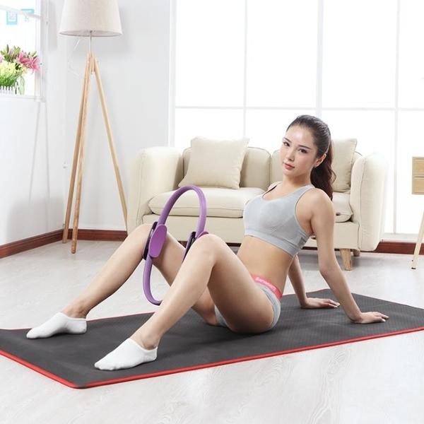 赫朗瑜伽圈環初學者魔力圈普拉提圈瘦大腿器材健身練腰達摩瑜伽輪 交換禮物