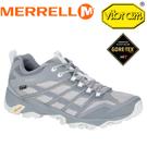【MERRELL 美國 男款 MOAB FST GORE-TEX 防水戶外多功能健行鞋《銀灰》】ML598191/登山鞋/運動鞋